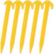 Picchetti di fissaggio VOSS.farming, 19,5 cm, con doppio gancio, 5 pz, giallo