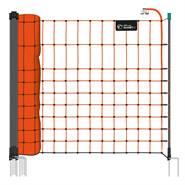 Rete per piccoli animali VOSS.farming farmNET, 50 m, 65 cm, 15 pali, 2 punte, arancione