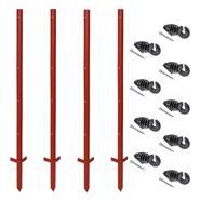 42294-zero-set-voss-farming-20-pz-pali-con-profilo-angolare-in-acciaio-115-cm-3-mm-100-pz-isolatori-