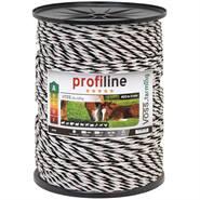 Corda per recinto elettrico VOSS.farming, 3x0,25 rame + 3x0,25 acciaio inossidabile, 400 m, bianco/nero
