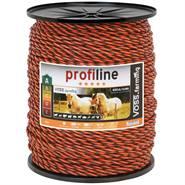 Corda per recinto elettrico VOSS.farming, 400 m, 3x0,3 rame + 3x0,3 acciaio inossidabile, arancione/marrone