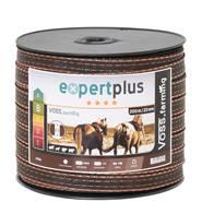 Nastro per recinto elettrico VOSS.farming, 20 mm, 200 m, 2x0,3 rame + 4x0,3 acciaio inossidabile, marrone/arancione