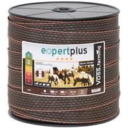 Nastro per recinto elettrico VOSS.farming 40 mm, 200 m, 2x0,3 rame + 8x0,3 acciaio inossidabile, marrone/arancione