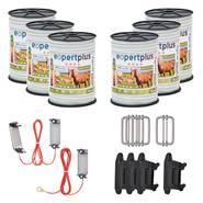 Kit di emergenza VOSS.farming: Recinto antilupi per cavalli, recinto mobile 400 m