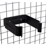Staffa per abbeveratoio con capezzoli bevitori, con piastra in acciaio inossidabile per il montaggio su rete metallica