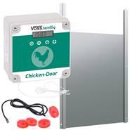 """Set: VOSS.farming """"Chicken Door"""" - Apriporta automatico per pollaio + porta scorrevole, 300x400mm"""