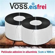 Pellicole adesive in alluminio VOSS.eisfrei, per cavo di riscaldamento antigelo, 50 m x 5 cm, 2pz