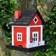 Mangiatoia a casetta per uccelli Skagen, rossa