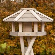 """Casetta per uccelli """"Valbo"""" VOSS.garden,  con palo di sostegno a croce, bianca"""