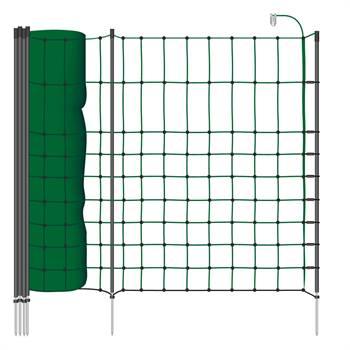Rete elettrificabile per piccoli animali VOSS.PET, 50 m, 65 cm, 1 punta, verde