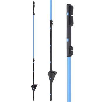 Palo in fibra di vetro, palo di ricambio per la rete di difesa dagli animali selvatici, 90 cm, blu