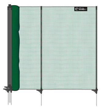 Rete non elettrificabile VOSS.farming classic, per recinzioni di protezione, 15 m, 90 cm, 9 pali, 1 punta, verde