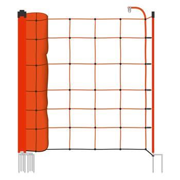 Rete elettrificabile per recinzione per Pecore VOSS.farming BASIC, 50 m, 90 cm, 2 punte, arancione