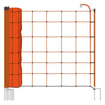 Rete elettrificabile per recinzione per Pecore VOSS.farming BASIC, 50 m, 90 cm, 1 punta, arancione