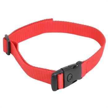 Collare in nylon VOSS.Pet, per DogTrace + PetSafe + Canicom, rosso