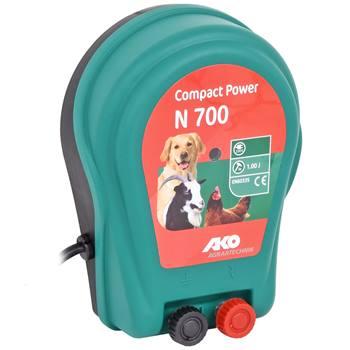 Elettrificatore a corrente 230V, AKO Compact Power N 700 - recinto per cani, gatti e piccoli animali