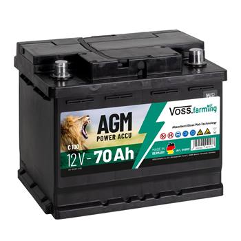 Batteria per elettrificatori 12V 70Ah AGM VOSS.farming