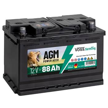 Batteria per elettrificatori, 12V 88Ah AGM VOSS.farming