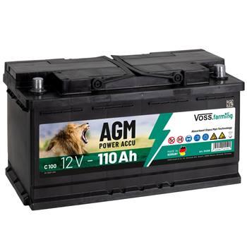 Batteria per elettrificatori, 12V 110Ah AGM VOSS.farming