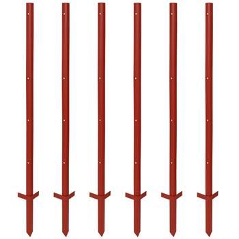 40 pz. pali con profilo angolare in acciaio, 115 cm, 3 mm, 4 fori e poggiapiede doppio