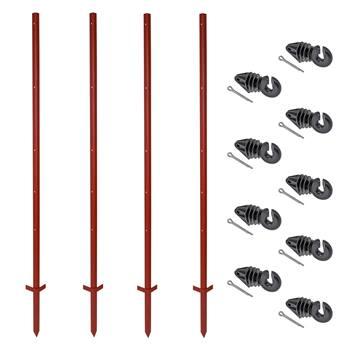 42308-zero-set-voss-farming-20-pz-pali-con-profilo-angolare-in-acciaio-165-cm-3-mm-100-pz-isolatori-