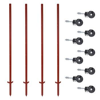 42311-zero-set-voss-farming-40-pz-pali-con-profilo-angolare-in-acciaio-165-cm-3-mm-200-pz-isolatori-