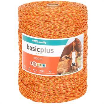 Filo polywire per recinto elettrico 1000 m VOSS.farming, 3x0,20 acciaio inossidabile, giallo/arancione
