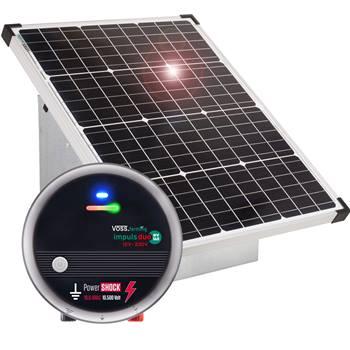 Kit Sistema ad Energia Solare: Pannello fotovoltaico da 55W VOSS.farming + Elettrificatore Impuls DUO DV160 + Scatola