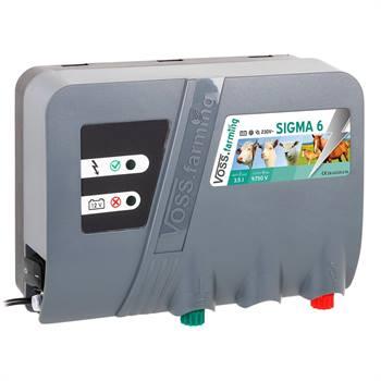 """Elettrificatore da 12 V/230 V """"SIGMA 6"""" per recinzione elettrica VOSS.farming"""