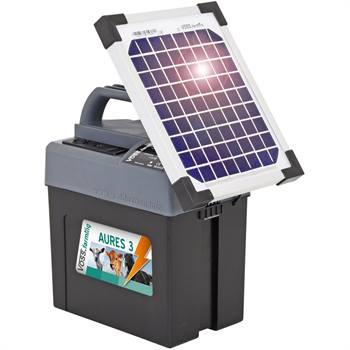 "Elettrificatore ""AURES 3 SOLAR"" VOSS.farming + Batteria + Pannello Solare 6 W"