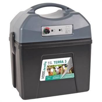 "Elettrificatore da 9 V, 12 V, 230 V ""TERRA 3"" per recinto elettrico VOSS.farming"