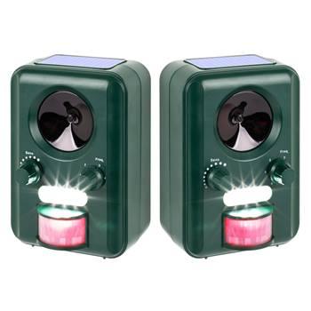 Repellente ad ultrasuoni VOSS.sonic 2000 (solare + lampeggiante), per gatti e cani, Confezione doppia