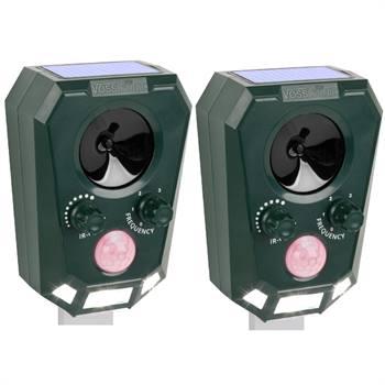 Pacco doppio: Repellente ad ultrasuoni VOSS.sonic 2200 con celle solari, scaccia cani, gatti e piccioni