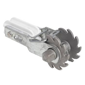 Tenditore per filo VOSS.farming con isolatore di rinforzo e blocco a ruota dentata