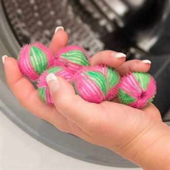 Palline leva pelucchi per lavatrice, 6pz