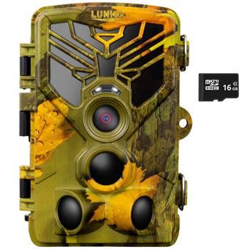 """Telecamera per fauna selvatica """"LUNIOX VC24"""", fototrappola 24MP + Video HD, scheda di memoria SD da 16GB incl."""