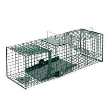Trappola vivente con porta a scatto - trappola per martore, per topi, 18,5 x 18,5 x 60 cm