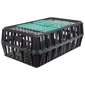 Cassa per il trasporto di pollame con porta scorrevole (83x50,5x31cm)
