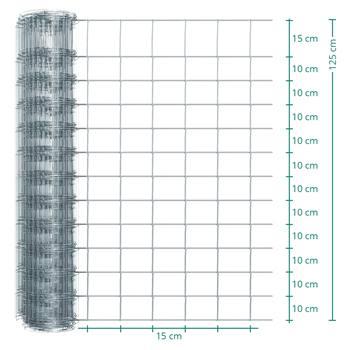 Rete metallica annodata Premium per recinto per animali selvatici VOSS.farming, 50m, altezza 125cm - 125/13/15