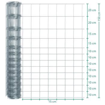 Rete metallica annodata Premium per recinto per animali selvatici VOSS.farming, 50m, altezza 150cm - 150/13/15
