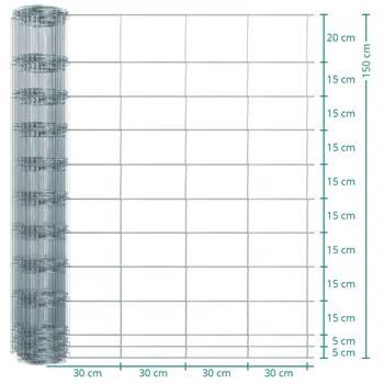 Rete metallica annodata Classic per recinto per animali selvatici VOSS.farming, 50m, altezza 150cm - 150/12/30