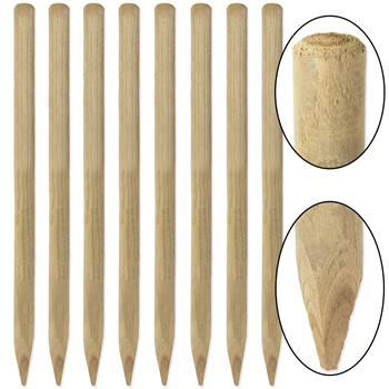 8 pz. Pali tondi in legno VOSS.farming per recinzioni, staccionate, impregnati sotto pressione in classe 4, 150 cm x 50 mm