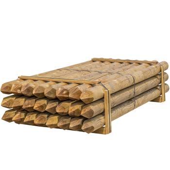 24 pz. Pali tondi in legno VOSS.farming per recinzioni, staccionate, impregnati sotto pressione in classe 4, 250 cm x 140 mm