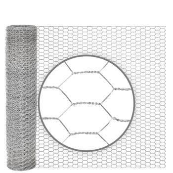 Rete metallica a maglia esagonale per conigli VOSS.farming, 10 m, zincata, altezza 50 cm, 13 x 0,7 mm