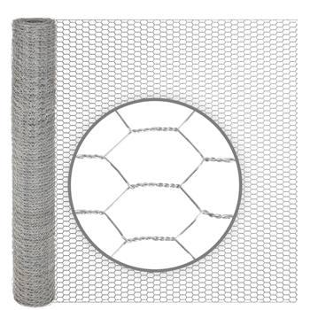 Rete metallica a maglia esagonale per conigli VOSS.farming, 10 m, zincata, altezza 75 cm, 13 x 0,7 mm
