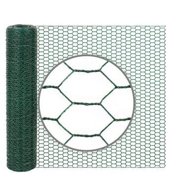 Rete metallica a maglia esagonale per conigli VOSS.farming, 10 m, altezza 50 cm, 13 x 0,9 mm, verde