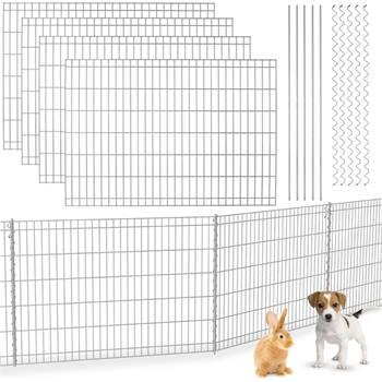Recinzione ad innesto VOSS.garden 80 x 460 cm, recinto da giardino, per piccoli animali, recinto di protezione per stagni