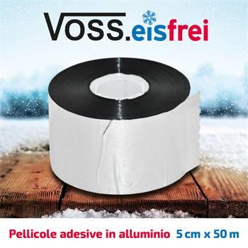 Pellicola adesiva in alluminio VOSS.eisfrei, per cavo di riscaldamento antigelo, 50m x 5cm