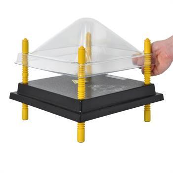 Coperchio di protezione per chioccia artificiale 30x30 cm, plastica (PET)