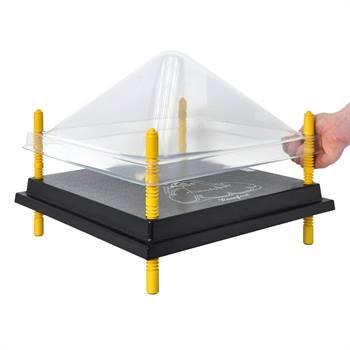 Coperchio di protezione per chiocce artificiali 40x40 cm, plastica (PET)